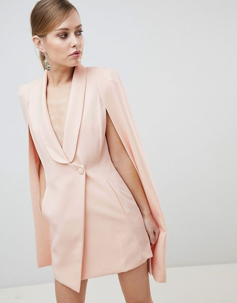 LAVISH ALICE Cape Asymmetric Front Mini Dress in pink - Dress by Lavish Alice, Feeling extra fancy? Cape back,...
