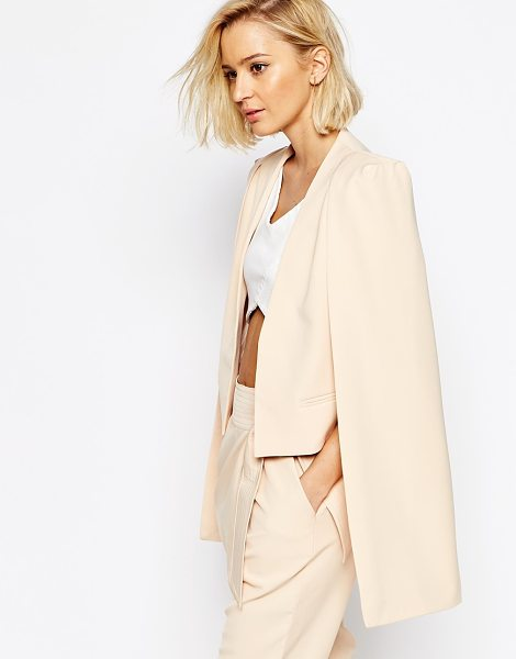 LAVISH ALICE Collarless cape blazer - Blazer by Lavish Alice, Lightweight crepe, Open front,...
