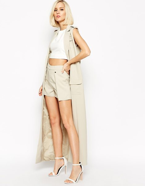 LAVISH ALICE Fold detail tailored short - Shorts by Lavish Alice Lightweight fabric High-rise...