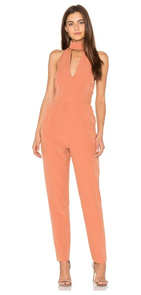 LAVISH ALICE Keyhole High Neck Jumpsuit - Self & Lining: 100% poly. Hand wash cold. Back neck hook...