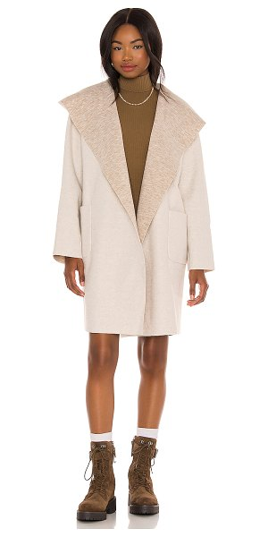 LBLC The Label vanessa hooded cardigan in oatmeal
