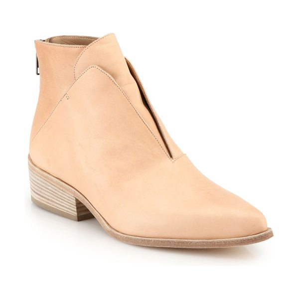 LD TUTTLE Ash geometric ankle boots in dune - Italian ankle boots punctuated by a slick point toe....