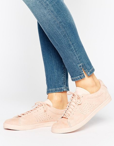 Le Coq Sportif Pink Nubuck Charline Sneakers in pink - Sneakers by Le Coq Sportif, Nubuck upper, Lace-up...
