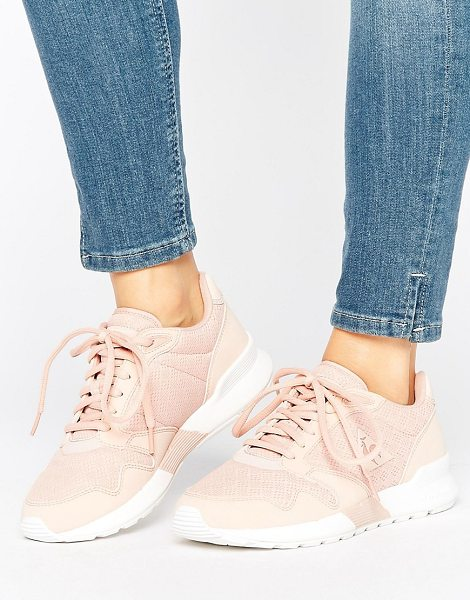 Le Coq Sportif Pink Omega Sneakers in pink - Sneakers by Le Coq Sportif, Breathable mesh upper,...