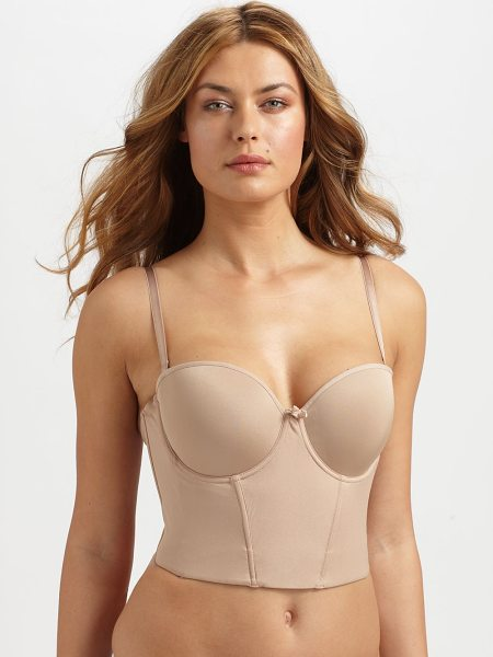 Le Mystere soiree short-line bustier in nude - Versatility is paramount in this supportive bustier...