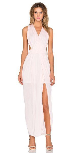 LE SALTY LABEL Allure Grecian Maxi - 95% viscose 5% spandex. Partially lined. Draped front....
