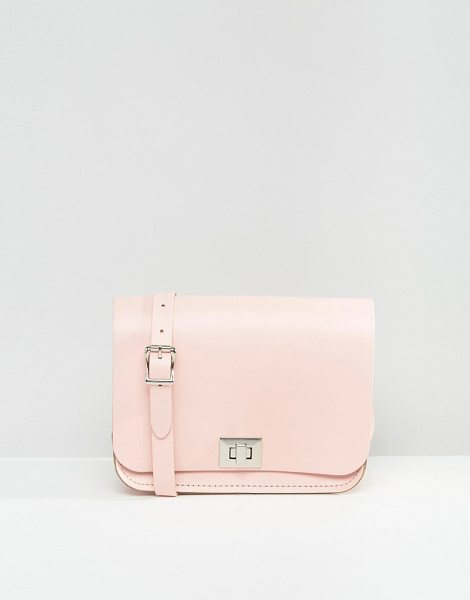 Leather Satchel Company The  pixie cross body bag in pink