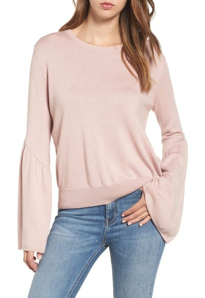 Leith bell sleeve sweater in pink adobe