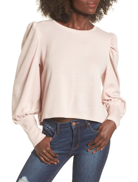 LEITH bloused sleeve sweater - Trendy puffed sleeves spin a retro vibe on this...
