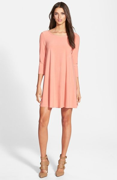 Leith crepe trapeze dress in coral apple