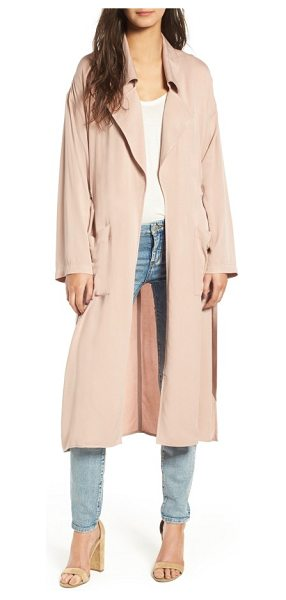 Leith duster jacket in pink adobe - Cut from lightweight fabric, this airy duster provides...