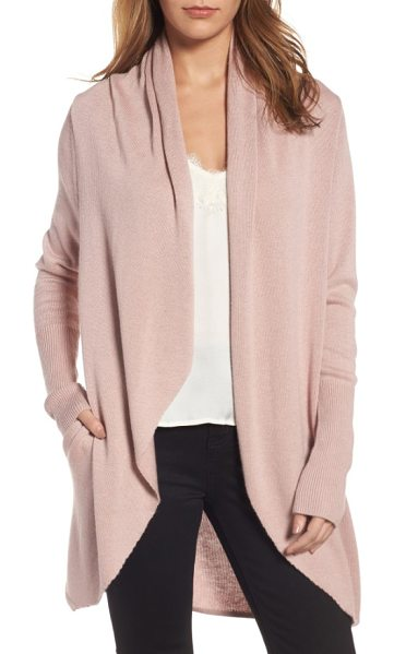 Leith easy circle cardigan in pink adobe - Plan ahead for chilly weather with this cozy-soft open...