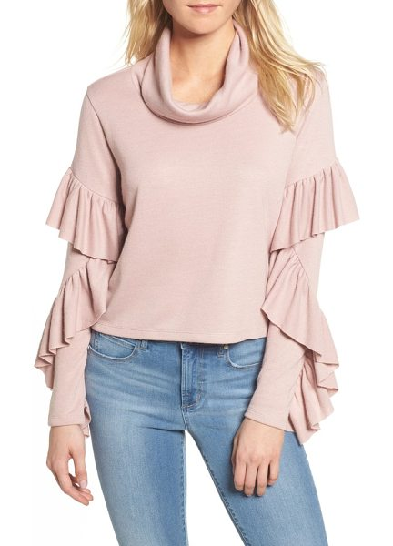 LEITH funnel neck ruffle top - When you want to feel comfortable but you also want to look...