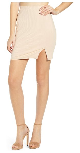 Leith ribbed miniskirt in beige