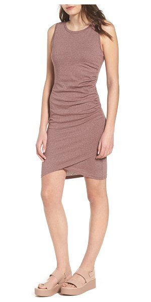 Leith ruched body-con tank dress in purple taupe heather - Gentle ruching at one side adds soft texture to a slinky...