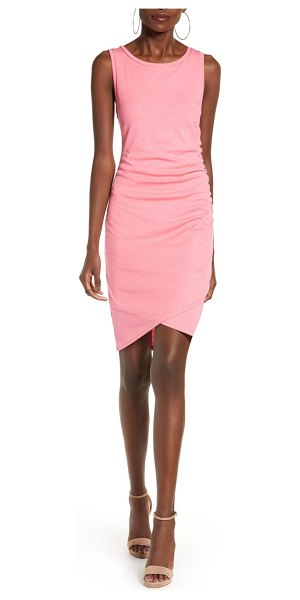 Leith ruched body-con tank dress in pink