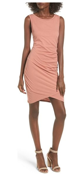 Leith ruched body-con tank dress in coral cedar - Gentle ruching at one side adds soft texture to a slinky...
