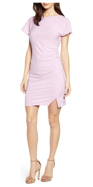 Leith ruched minidress in pink