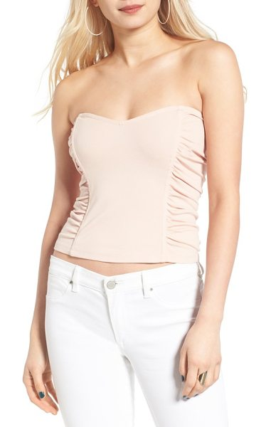 LEITH ruched strapless top - Structured panels and ruched details play up the...