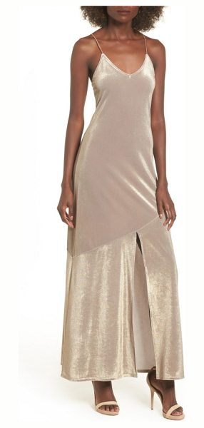 Leith shine maxi dress in metallic bubble - A sultry maxi slipdress in enchanting, luminous fabric...