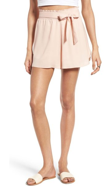 Leith smock waist shorts in pink scallop - These feminine shorts are perfect for weekend brunch...