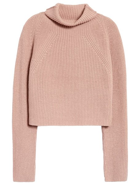 Leith transfer stitch turtleneck sweater in pink