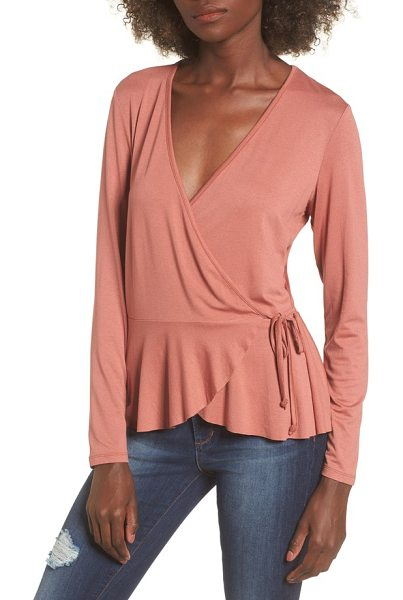 LEITH wrap top - With a surplice neckline and wrapped silhouette, this...