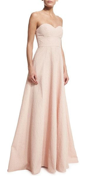 Lela Rose Strapless Sweetheart-Neck Gown in blush - EXCLUSIVELY AT NEIMAN MARCUS Lela Rose matelasse gown....