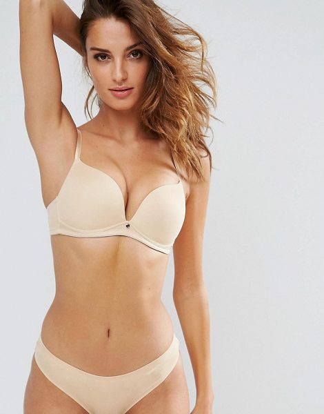 LEPEL Lexi Non Wired Soft Beige Bra B-DD Cup - Bra by Lepel, Smooth seamless fabric, Moulded cups,...