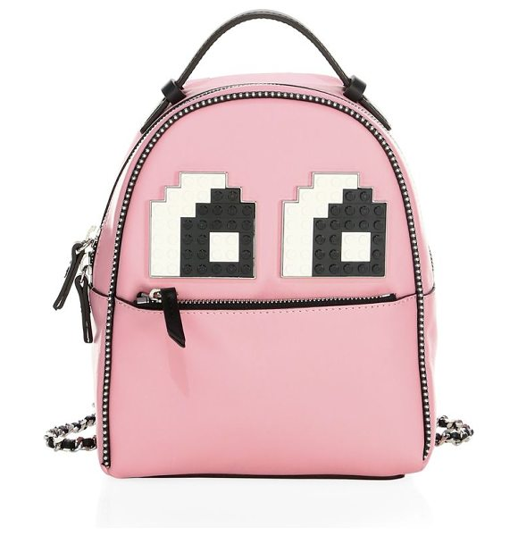 LES PETITS JOUEURS baby mick leather backpack - Compact leather backpack features cute character design....