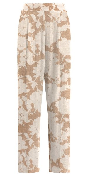 LESET lori floral straight pants in beige