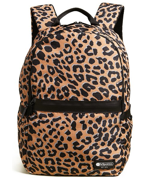 LeSportsac carson backpack in leopard - Fabric: Ripstop Black colorway has croc-embossed design...