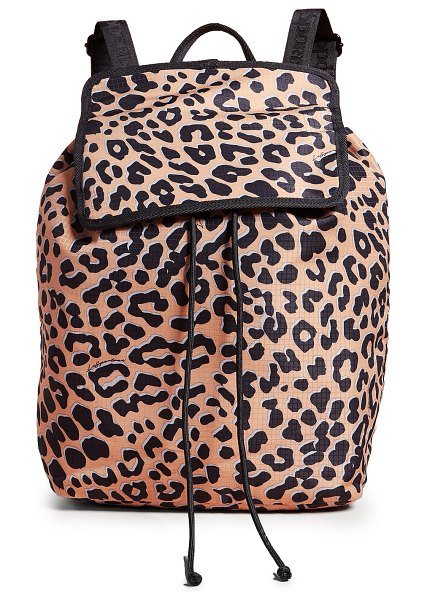 LeSportsac gabrielle backpack in leopard - Fabric: Coated ripstop Shiny exterior Magnetic at front...