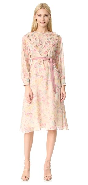 Leur Logette shadow rose dress in beige - An airy silk Leur Logette dress in a delicate rose...