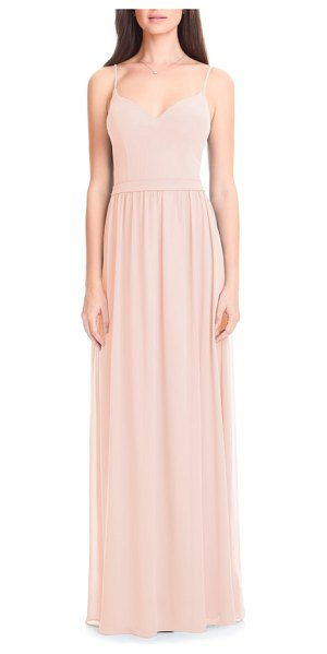 Levkoff # chiffon a-line gown in pink