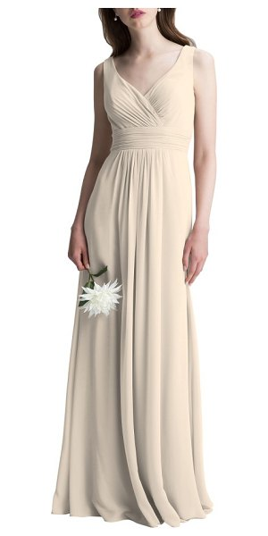 LEVKOFF # v-neck chiffon a-line gown - This dreamy chiffon gown is incredibly flattering from...