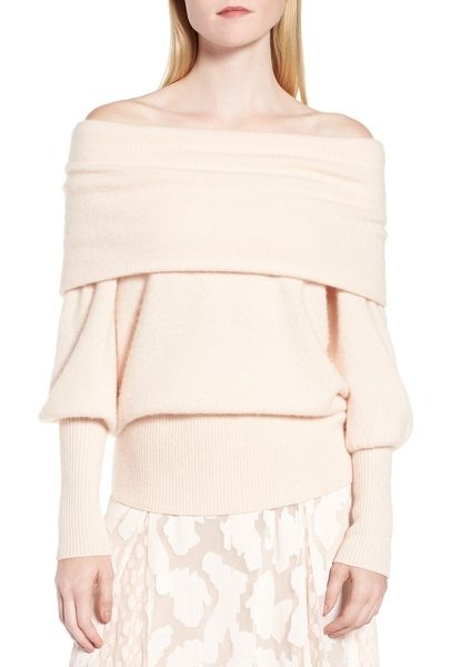 LEWIT convertible neck cashmere sweater in pink adobe - Modern romance meets decadent softness with a cashmere...