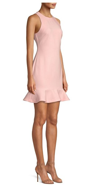 LIKELY beckett sleeveless flounce shift dress in rose - Fanciful flounce hem lends romantic accents to shift...