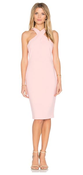 LIKELY Carolyn Dress in pink - Poly blend. Dry clean only. Unlined. Crisscross shoulder...