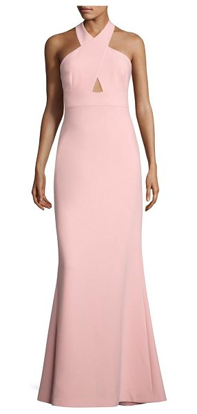 LIKELY damen halterneck gown in peony - On-trend gown highlighted with back slit and front...