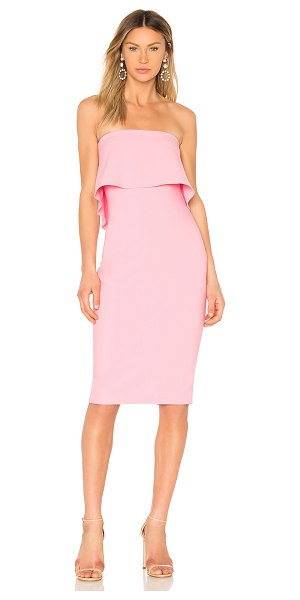 "LIKELY Driggs Dress in pink - ""67% poly 27% rayon 6% spandex. Dry clean only...."