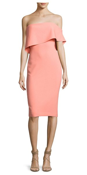 LIKELY Driggs Dress in apricot - LIKELY ponte midi dress with a versatile silhouette for...