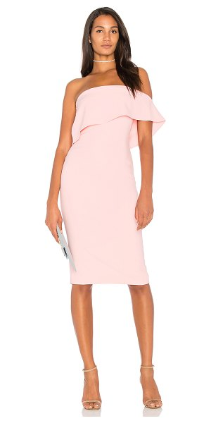 "LIKELY Driggs Dress in pink - ""Self: 73% poly 22% rayon 5% spandexLining: 100% poly...."