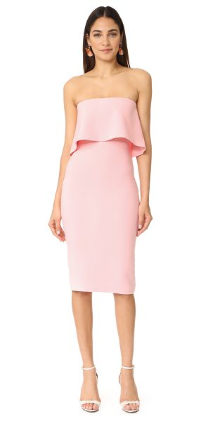 LIKELY driggs dress in peony - A draped ruffle defines the bodice on this strapless...