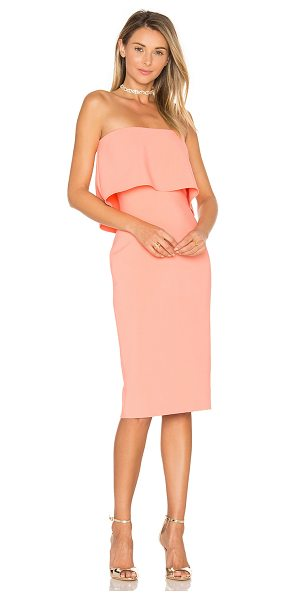 "LIKELY Driggs Dress in peach - ""Poly blend. Dry clean only. Fully lined. Non slip..."