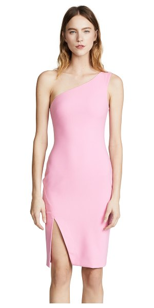 LIKELY helena dress in sachet pink - Fabric: Stretch weave Side split Knee length...