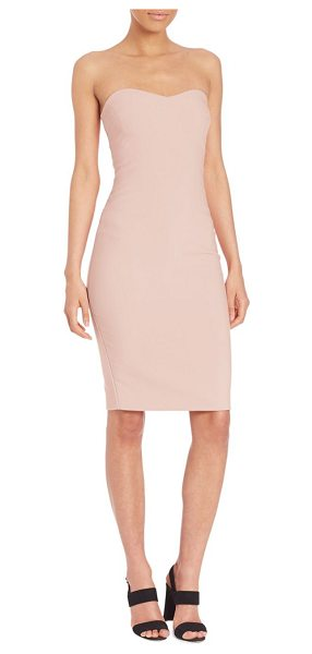 LIKELY lauren dress in peony - Strapless dress in sultry bodycon silhouette. Sweetheart...