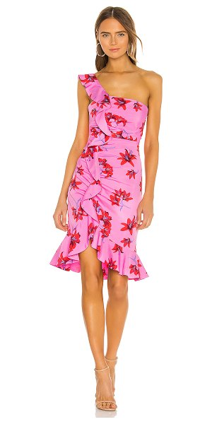LIKELY lois dress in red & pink multi