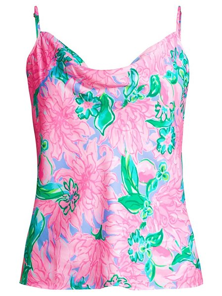 Lilly Pulitzer bobbie floral print camisole in pink blossom try your zest