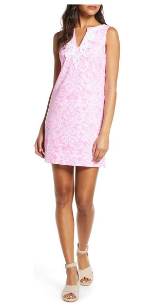 Lilly Pulitzer lilly pulitzer harper stretch cotton shift dress in pink